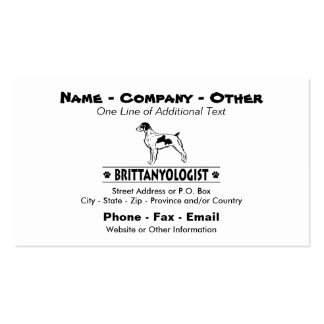 Humorous Brittany Double-Sided Standard Business Cards (Pack Of 100)