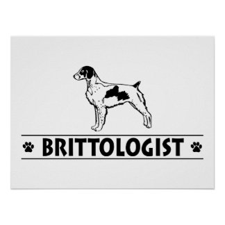 Humorous Brittany Poster
