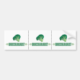 Humorous Broccoli Bumper Sticker