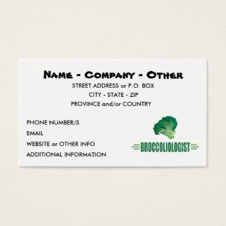 Humorous Broccoli Business Card