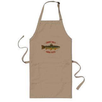 Humorous Brook Trout Fish, Fishing Long Apron