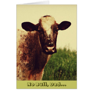 Humorous Bull Photo Father's Day Card