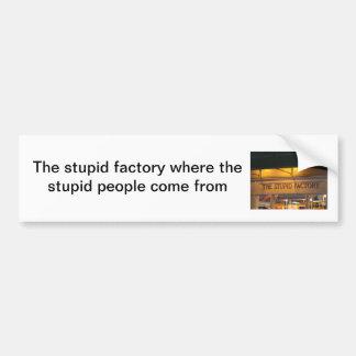 Humorous bumper sticker