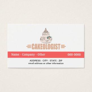 Humorous Cake Decorating Business Card