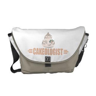 Humorous Cake Decorating Messenger Bag