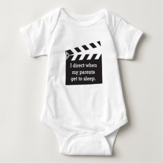 Humorous Caption Director Board Black and White Baby Bodysuit