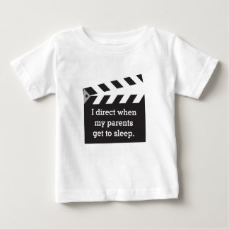 Humorous Caption Director Board Black and White Baby T-Shirt