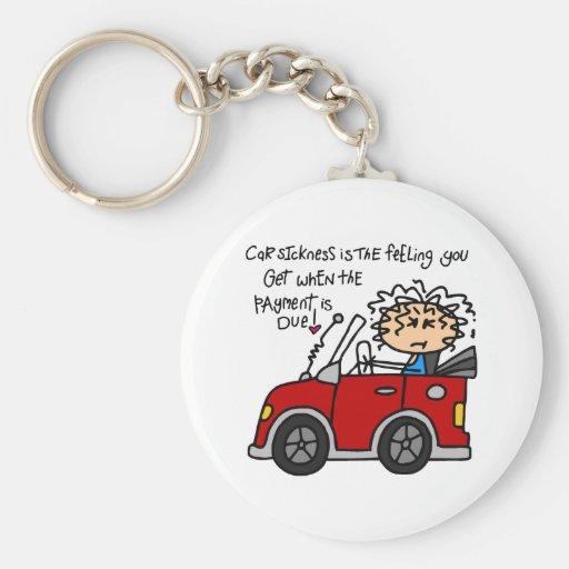 Humorous Car Sickness Keychain