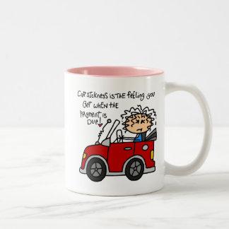 Humorous Car Sickness Mugs
