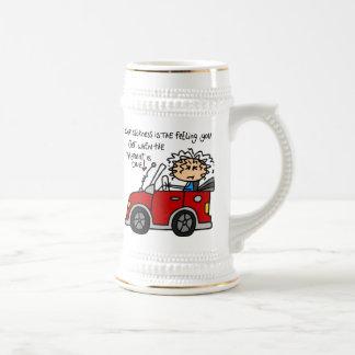 Humorous Car Sickness Coffee Mugs