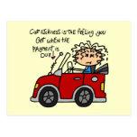 Humorous Car Sickness Postcard