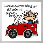Humorous Car Sickness Print