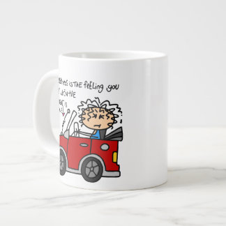 Humorous Car Sickness Extra Large Mugs