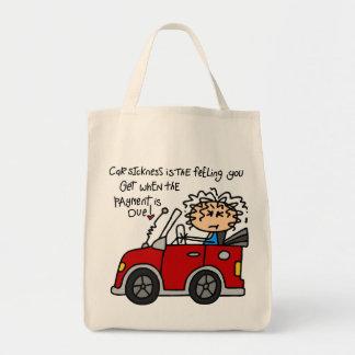 Humorous Car Sickness Tote Bag