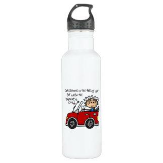 Humorous Car Sickness Water Bottle