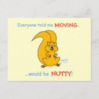 Humorous Cartoon Change of Address Card postcard