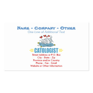 Humorous Cat Lovers Double-Sided Standard Business Cards (Pack Of 100)