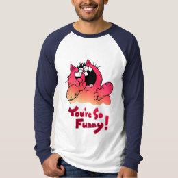 Humorous catoon Cat   Sill Cat Humor T-Shirt