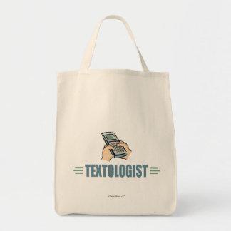 Humorous Cell Phone Texting Tote Bag