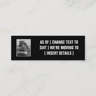 Change of address business cards templates zazzle humorous change of address mini business card colourmoves