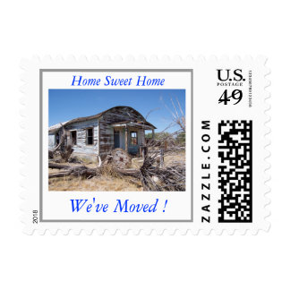 Humorous Change of Address Postage Stamp