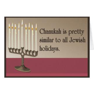 Humorous Chanukah Greeting Card