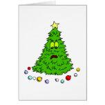 Humorous Christmas Tree Holiday Seasonal Card