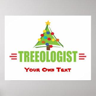 Humorous Christmas Tree Poster