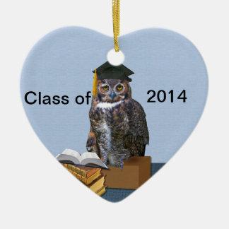 Humorous Class of 2014 Graduation Owl Ornaments