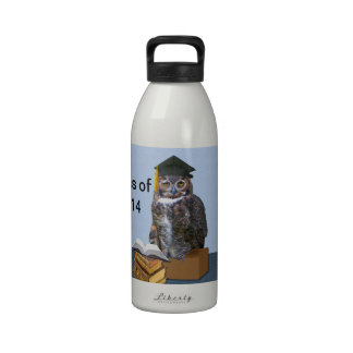 Humorous Class of 2014 Graduation Owl Reusable Water Bottles