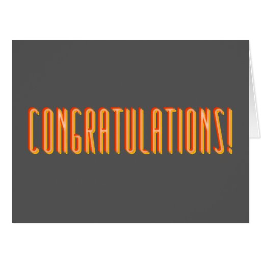 Humorous Congratulations Greeting Card (Big)
