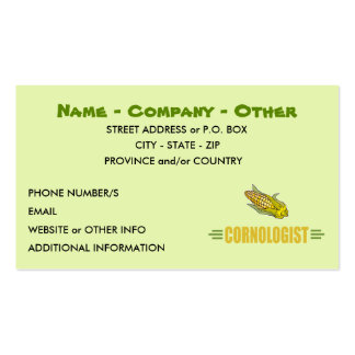 Humorous Corn Lover Business Card