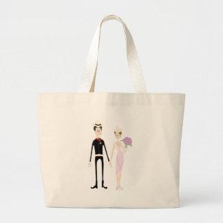 Humorous Country Wedding Couple Bag