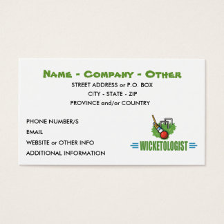 Humorous Croquet Business Card