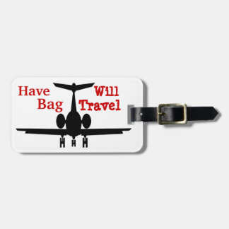 Humorous Customizable Airplane Luggage Tags