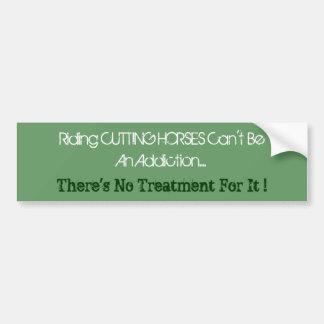 Humorous Cutting Horse Bumper Sticker