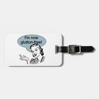 Humorous Dieting Glutton Free Luggage Tag