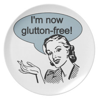 Humorous Dieting Glutton Free Dinner Plate