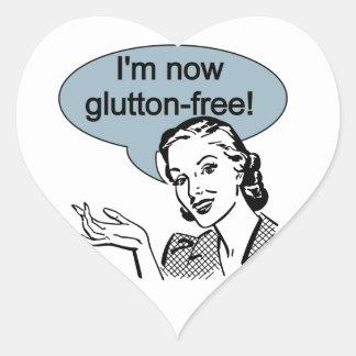 Humorous Dieting Glutton Free Heart Sticker