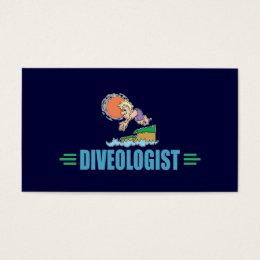 Humorous Diving Business Card