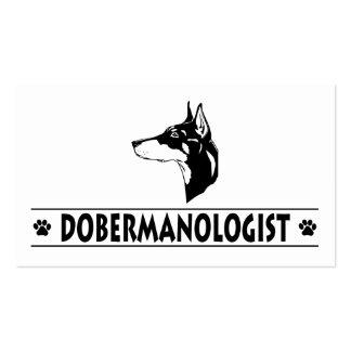 Humorous Doberman Pinscher Business Card Templates