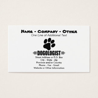 Humorous Dog Lover Business Card