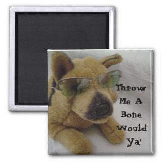 Humorous Dog Saying 2 Inch Square Magnet