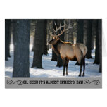Humorous Elk Photo Father's Day Card