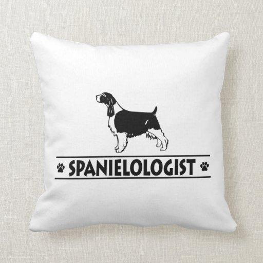 Humorous English Springer Spaniel Pillows