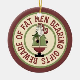 Humorous Fat Man Santa Ornament