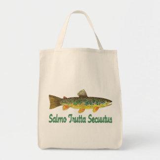 Humorous Fish Fishing Fly Fishing Canvas Bags