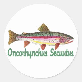 Humorous Fish, Fishing, Fly Fishing Sticker