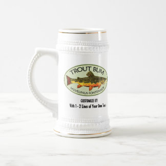 Humorous Fishing Beer Stein