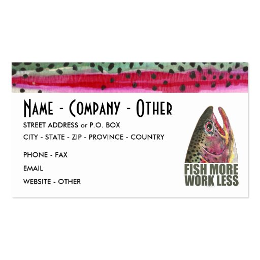Humorous fishing business card zazzle for Fishing business cards